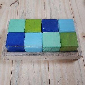 Blocos De Montar 8 Cubos - 3+