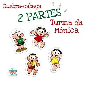 Quebra Cabeça 2 Partes Turma da Mônica - 2+