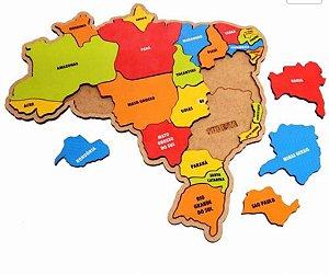 Quebra Cabeça Mapa Regiões - 5+
