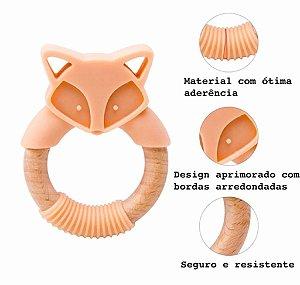 Mordedor Bebê Raposa Pêssego - 4m+