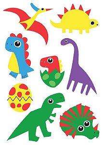 Tatuagem temporária dinossauros 3+