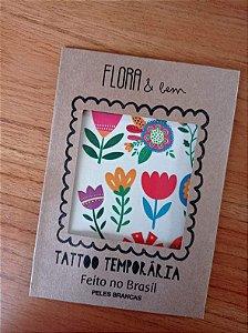Tatuagem temporária flores 3+