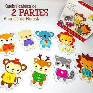 QUEBRA CABECA 2 PARTES ANIMAIS DA FLORESTA -18m+