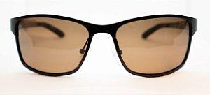 Óculos de Sol Masculino Chilli Beans Quadrado Esportivo Marrom Polarizado