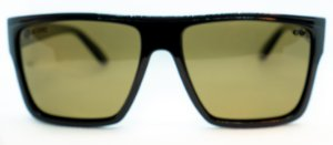 Óculos de Sol Masculino Chilli Beans Quadrado Preto e lentes Marrom