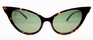 Óculos de Sol Feminino Chiili Beans Gatinho Tartaruga