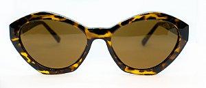 Óculos de Sol Feminino Chiili Beans Gatinho Tartaruga Marrom