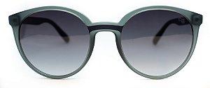 Óculos De Sol Feminino Chilli Beans Redondo Fosco Cinza