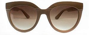 Óculos de Sol Feminino Chiili Beans Gatinho Bege