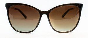 Óculos De Sol Feminino Chilli Beans Quadrado Marrom Escuro