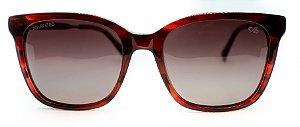 Óculos De Sol Feminino Chilli Beans Quadrado Tartaruga Polarizado