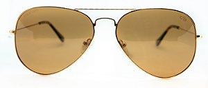 Óculos de Sol Unissex Chiili Beans Aviador Marrom