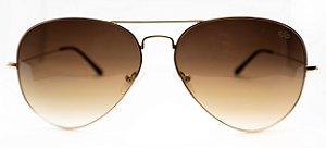Óculos de Sol Feminino Chiili Beans Aviador Marrom Fosco
