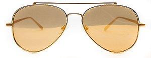 Óculos de Sol Masculino Chilli Beans Aviador Dourado