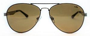 Óculos de Sol Masculino Chilli Beans Aviador Marrom