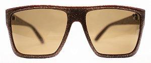 Óculos de Sol Masculino Chilli Beans Quadrado Marrom