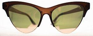 Óculos de Sol Feminino Chilli Beans Gatinho Marrom Escuro
