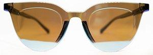 Óculos de Sol Feminino Chilli Beans Redondo Azul Espelhado