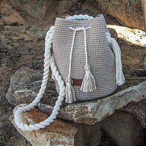 Bolsa Saco Feminina de Crochê