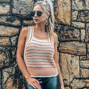 Regata Feminina Tricot Alças Largas