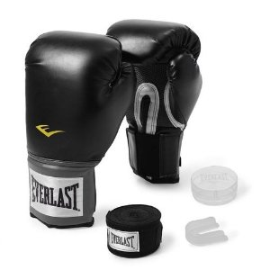 KIT LUVA, BUCAL E BANDAGEM EVERLAST