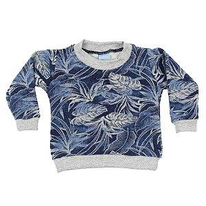 Blusa em Moletinho Floral Unisex TAM P ao 6