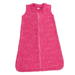 Saco de Dormir Baby Moletinho Algodão Pink Ziper Invertido