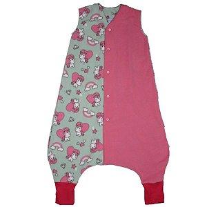 Saco de Dormir Primeiros Passinhos Soft Unicórnio Pink Botão De 1 até 3 Anos