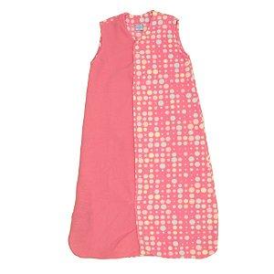 Saco de Dormir Baby Soft Bolinhas Pink Botão De 1 até 12 Meses