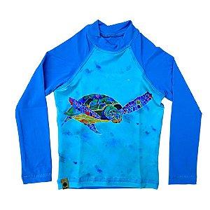 Camiseta infantil PFS 50+ UV+ Tartaruga TAM 1 - 2