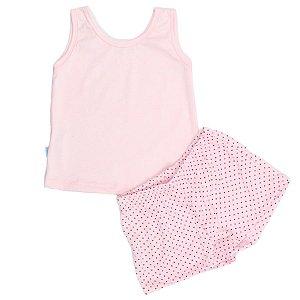 Pijama Feminino Poá TAM 3 - 4