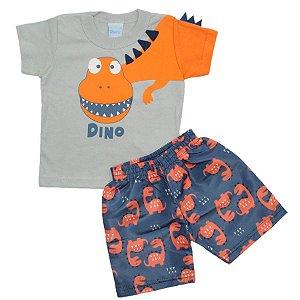 Conjunto Dino Orange TAM P