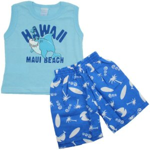 Conjunto Hawaii Blue TAM P - M - G