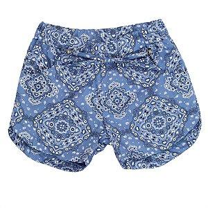 Shorts Feminino Mandala Azul TAM 3 e 4