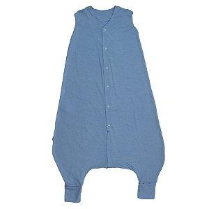 Saco de Dormir Crescidinhos Azul Suedine Botões 4 até 7 Anos