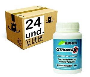 GLIFOSATO 0,48% MATA MATO HERBICIDA CITROMAX - CX 24x100ml