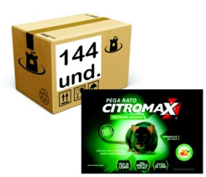 RATOEIRA ADESIVA CARTELA COLA PEGA RATO CITROMAX - CX (12x12un) 144un