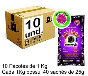 RATICIDA PELLETS ROSA CITROMAX - CX 10x(40x25g) 10Kg