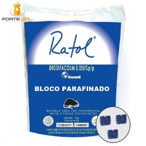 Raticida Ratol Mini-Bloco ChemoNE Saco (200x05g) 1 Kg