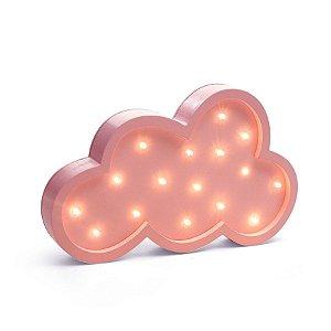 Led de Madeira Nuvem Rosa - 1 Unidade