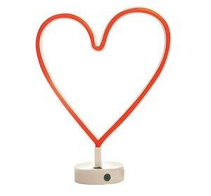 Silhueta de Led Coração Vermelho 29x10x30,5 - 1 Unidade