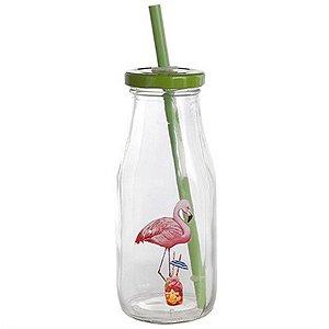 Caneca de Vidro Flamingo - 400 ml