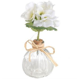 Mini Vaso Decorativo de Flor Artificial - 17 cm