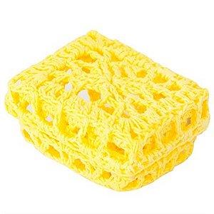 Mini Caixinha Retangular de Crochê - Amarela