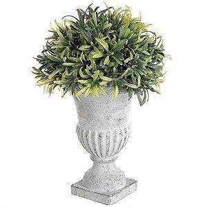 Vaso Decorativo Grande de Folhagem Artificial - 26 cm