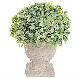 Vaso Decorativo Pequeno de Folhagem Artificial - 16 cm