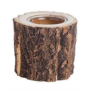 Vaso Rústico - Tronco de Árvore - Pequeno (11cm)