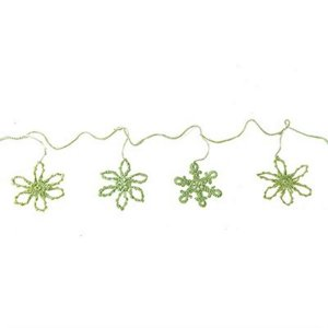 Varal Decorativo em Crochê - 2 m - Verde