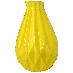 Vaso Decorativo de Cerâmica Grande - Amarelo