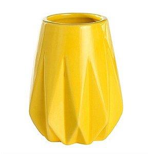 Vaso Decorativo de Cerâmica Pequeno - Amarelo